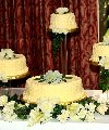 Four Yellow Baskets Wedding Cake